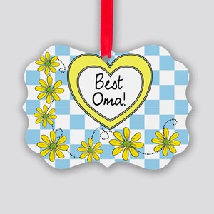 Best Oma Yellow Picture Ornament
