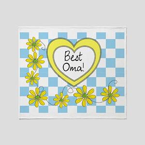 Best Oma Yellow Throw Blanket