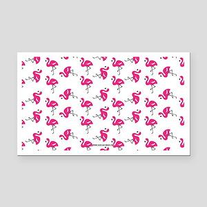 Dancing Flamingos Rectangle Car Magnet