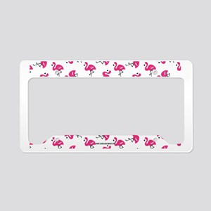 Dancing Flamingos License Plate Holder
