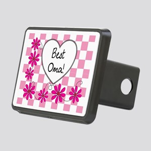 Best Oma Pink daisies Rectangular Hitch Cover