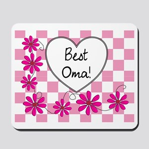 Best Oma Pink daisies Mousepad