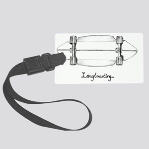 The Black and White 1 Large Luggage Tag