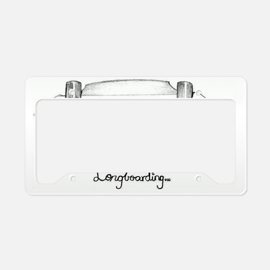 The Black and White 1 License Plate Holder