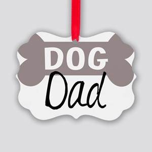 Dog Dad Picture Ornament