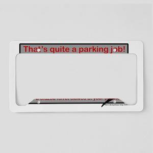 Parking Ferret (grey-red) License Plate Holder