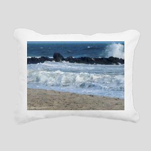 Ocean Beach Rocks Cape M Rectangular Canvas Pillow