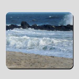 Ocean Beach Rocks Cape May Shower Curtai Mousepad