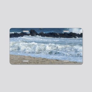 Ocean Beach Rocks Cape May  Aluminum License Plate