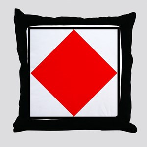 Nautical Flag Code Foxtrot Throw Pillow