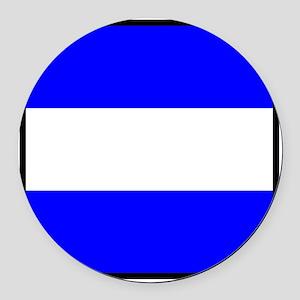 Nautical Flag Code Juliet Round Car Magnet