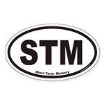 STM Short Term Memory Euro Oval Sticker