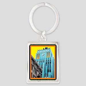 Historic Downtown Los Angeles Portrait Keychain