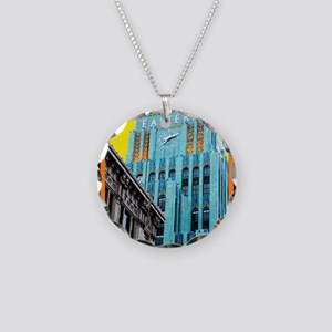Historic Downtown Los Angele Necklace Circle Charm