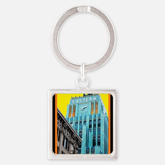 Historic Downtown Los Angeles Square Keychain