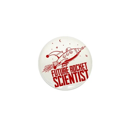 Future Rocket Scientist Mini Button by Admin_CP65943679
