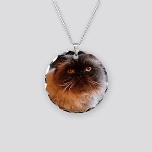 Himalayan Persian Cat Necklace Circle Charm