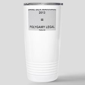 Same sex marriage = pol Stainless Steel Travel Mug