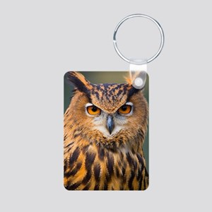 Eagle Owl Aluminum Photo Keychain