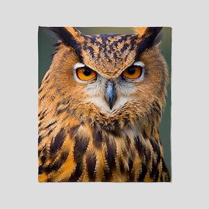 Eagle Owl Throw Blanket