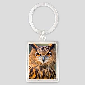 Eagle Owl Portrait Keychain