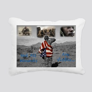 PTSD. Rectangular Canvas Pillow