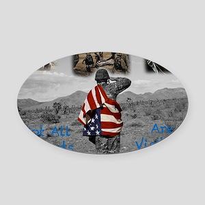 PTSD. Oval Car Magnet