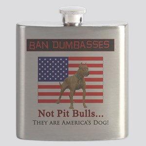 Ban Dumbasses... NOT Pit Bulls! Flask