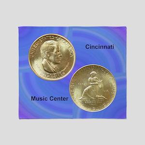 Cincinnati Music Center Half Dollar  Throw Blanket