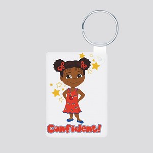 Confident Danza Aluminum Photo Keychain