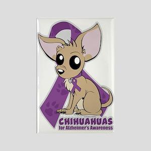Chihuahuas for Alzheimers Awarene Rectangle Magnet
