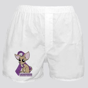 Chihuahuas for Alzheimers Awareness Boxer Shorts