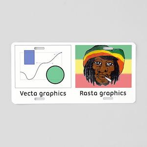 Vecta and Rasta graphics Aluminum License Plate