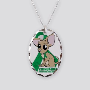 Chihuahuas for Cerebral Palsy Necklace Oval Charm