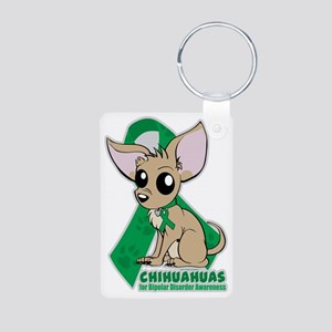 Chihuahuas for Bipolar Dis Aluminum Photo Keychain