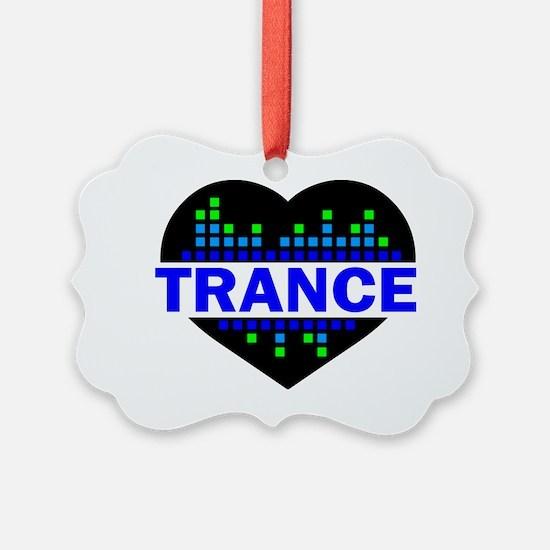 Trance Heart tempo design Ornament