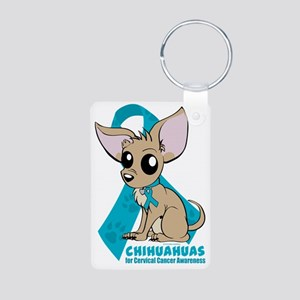 Chihuahuas for Cervical Ca Aluminum Photo Keychain