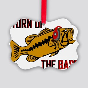 Funny Turn up the Bass design Picture Ornament