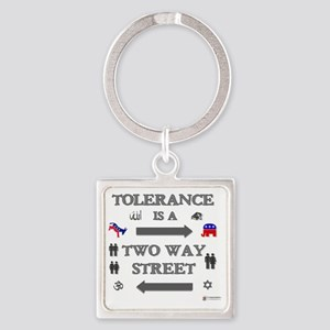 tolerance Square Keychain