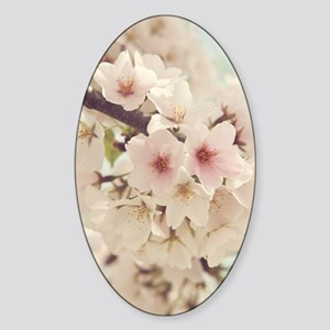 JAPANESE CHERRY BLOSSOMS Sticker (Oval)