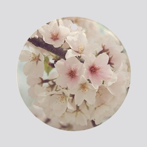 JAPANESE CHERRY BLOSSOMS Round Ornament