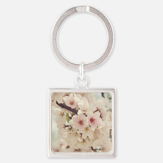 JAPANESE CHERRY BLOSSOMS Square Keychain
