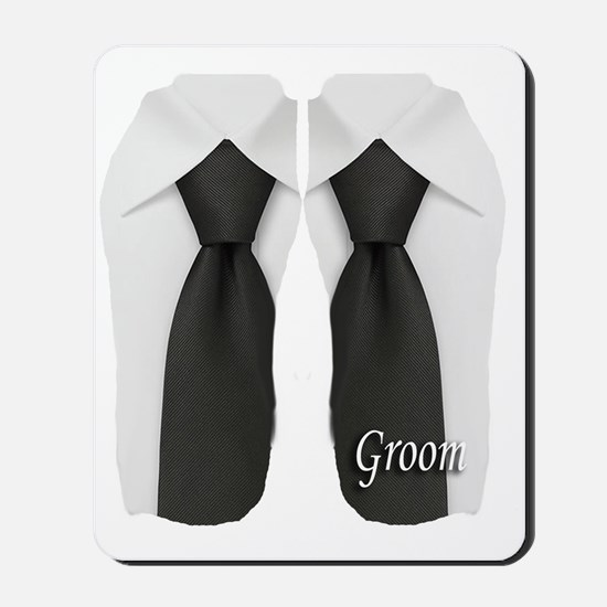 groom black tie flip flop Mousepad