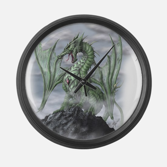 Misty allover Large Wall Clock