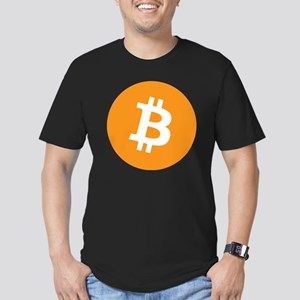 bitcoin Men's Fitted T-Shirt (dark)