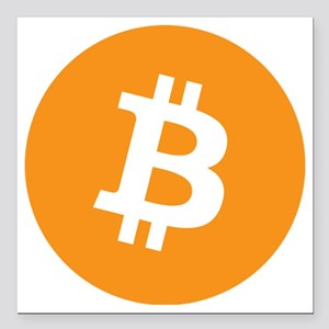 "bitcoin Square Car Magnet 3"" x 3"""