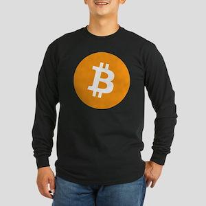 bitcoin Long Sleeve Dark T-Shirt