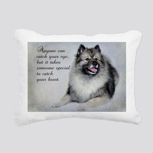 Keeshond Rectangular Canvas Pillow