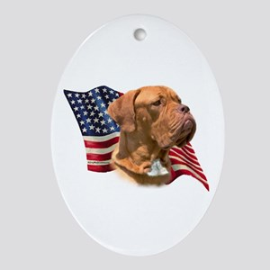 Dogue Flag Oval Ornament