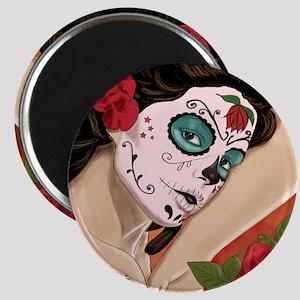 Blue Skull - dia de los muertos Pin-up Magnet